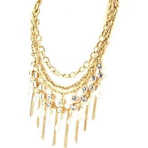 Multi Chain Chandelier Necklace,NWT